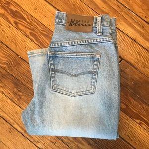 Express Bleus 3/4 bootcut Jeans